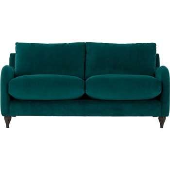 Sofia 2 Seater Sofa, Plush Mallard Velvet (83 x 170cm)