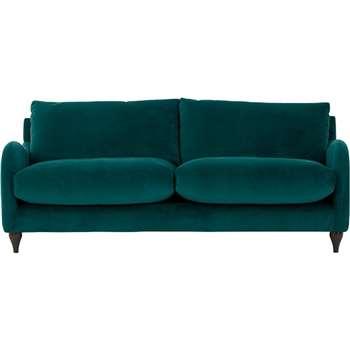 Sofia 3 Seater Sofa, Plush Mallard Velvet (83 x 195cm)