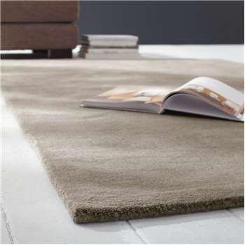 SOFT woollen low pile rug in beige (160 x 230cm)