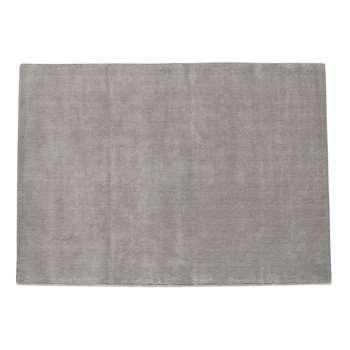 SOFT woollen low pile rug in grey (160 x 230cm)
