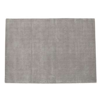 SOFT woollen low pile rug in grey (200 x 200cm)