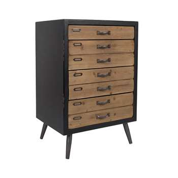 Sol Large Vintage Storage Cabinet with Pine Drawers 80 x 55cm