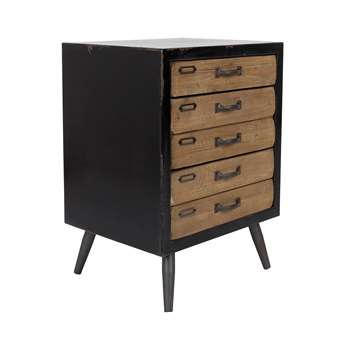 Sol Medium Vintage Storage Cabinet with Pine Drawers 63 x 46cm