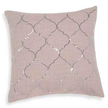 SOLÈNE glittery beige cushion cover (40 x 40cm)