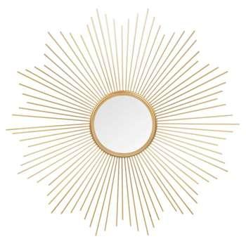 SOLEDAD round gold-coloured metal mirror D 70 cm