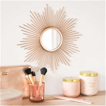 SOLEDAD Sunburst Mirror In Gold (33 x 33cm)