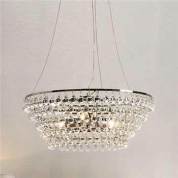 Solid Glass Orb Chandelier - Clear