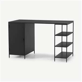 Solomon Wide Desk, Black (H74 x W120 x D55cm)