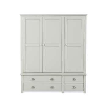 Somerset Grey 3 Door 4 Drawer Wardrobe (193 x 163cm)