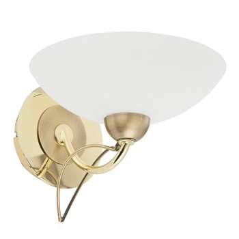 Somerville 1 Light Wall Light Polished Brass (H14 x W21 x D18cm)