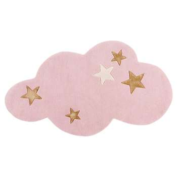 SONGE Pink Wool Cloud Rug (H75 x W130cm)