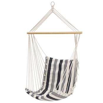 Songmics Hammock Chair, Blue and White Stripes