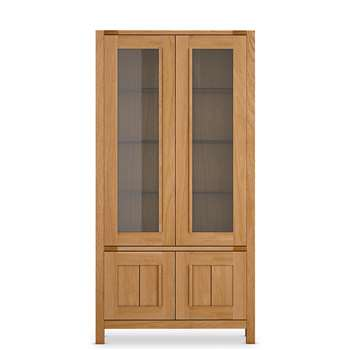 Sonoma 2-Door Tall Glazed Unit, Oak (H187 x W95 x D44cm)