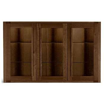 Sonoma Dark 3-Door Glazed Top, Dark (H110 x W178.5 x D33cm)