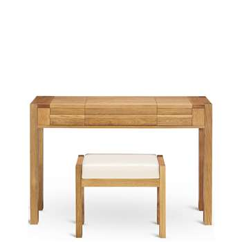 Sonoma Dressing Table & Stool, Oak (80 x 120cm)