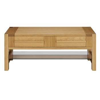 Sonoma Storage Coffee Table, Oak (H48 x W120 x D61cm)