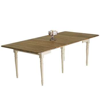 Sophia Farmhouse Kitchen Table, Oak Top - Wood (78 x 200cm)