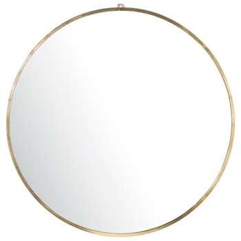SORA Round Gold Metal Mirror (H101 x W101 x D4cm)