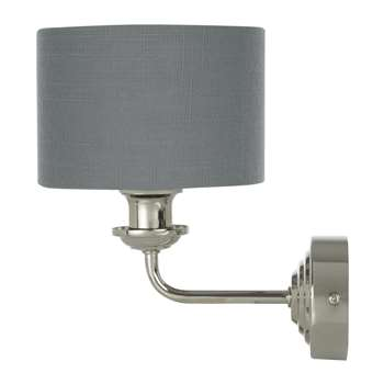 Sorrento 1 Arm Wall Light with Charcoal Shade (20.7 x 15cm)