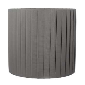 Sorrento Pleated Cylinder Shade Charcoal (Height 30.5cm)