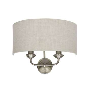 Sorrento Wall Light with Natural Shade (25 x 35cm)
