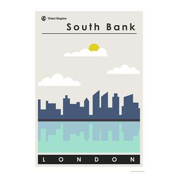 South Bank Print By This Charming Print (H100 x W70cm)