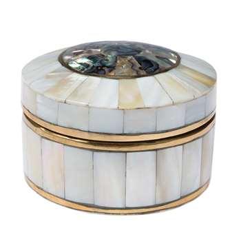 South Sea Round Box - Multi (4.5 x 7.5cm)