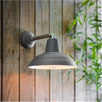 Southwark Outdoor Wall Light In Charcoal (36 x 28.5cm)