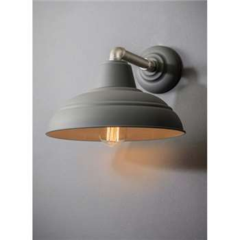 Southwark Wall Light in Charcoal - Steel (23.5 x 36cm)