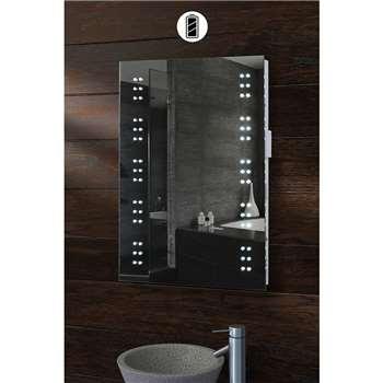 Sovereign Illuminated Battery LED Bathroom Mirror (70 x 50cm)