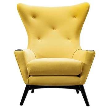 Spalding Armchair Mustard (H113 x W97 x D92cm)