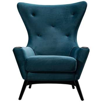Spalding Armchair Peacock (H113 x W97 x D92cm)