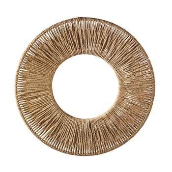 SPARTE Round Hemp Mirror (H96 x W96 x D7.1cm)