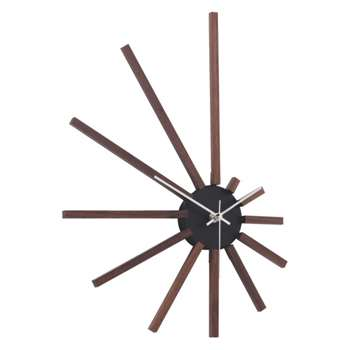 Spectrum Brown spoke wall clock - Walnut (Width 45cm)