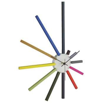 Spectrum Multi-Coloured Spoke Wall Clock (Height 45cm)