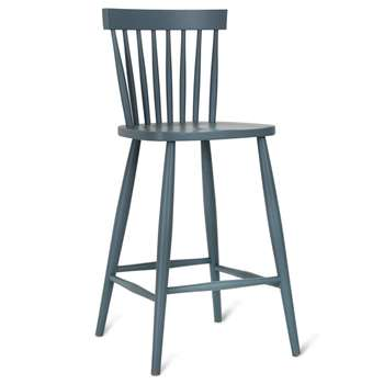Spindle Bar Stool in Charcoal - Beech (103 x 45cm)