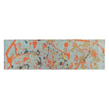 Splatter Multi-coloured splatter printed cotton runner 75 x 250cm