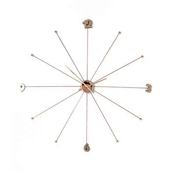 Spokes wall clock rose gold extra large (100 x 100cm)