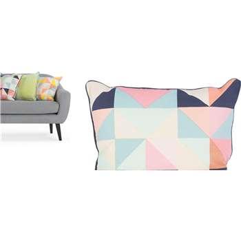 Sports Luxe Geo Cushion, Blue (45 x 45cm)