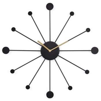 Sputnik Large Wall Clock, Black (Diameter 50cm)