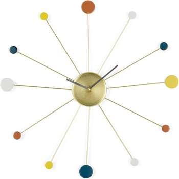 Sputnik Large Wall Clock, Multicoloured (Diameter 50cm)