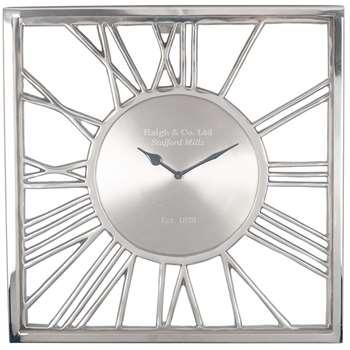 Square Glass Wall Clock (H41 x W41 x D8cm)