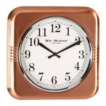 Square Metal Wall Clock Copper (H31 x W32 x D5cm)