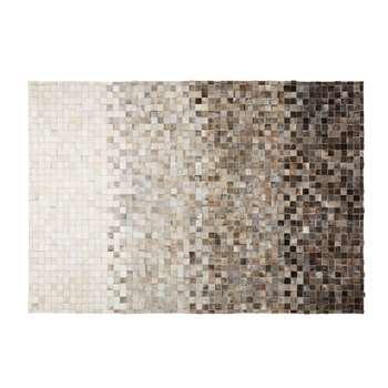 SQUARU cowhide and wool rug (140 x 200cm)