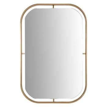 Squoval Mirror With Copper Border (90 x 60.5cm)