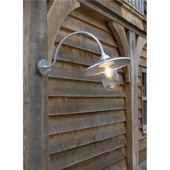 St Ives Arched Swan Neck - Galvanised Steel (30 x 11cm)