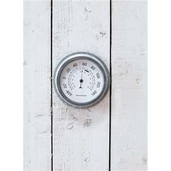 St Ives Thermometer - Galvanised Steel (22 x 22cm)