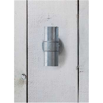 St Ives Up & Down Light - Galvanised Steel (17.5 x 9.5cm)