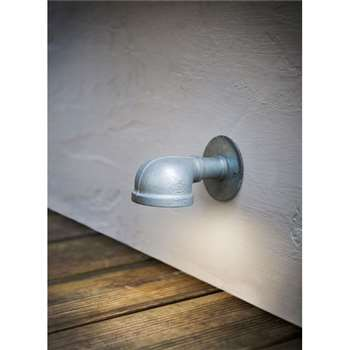 St Ives Wall Mounted Path Light with Galvanised Finish (8 x 8cm)