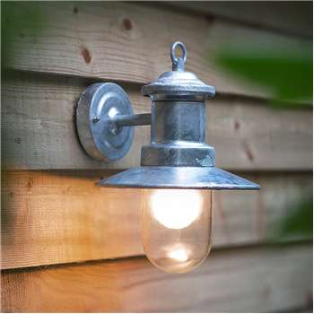 St Ives Wall Mounted Ships Garden Light in Industrial Style H30.5 x W24.5cm